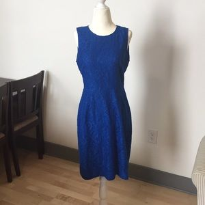 BLUE lace overlay J. Crew DRESS. Size 6. 🐟🏝💎💙